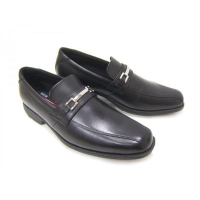 Texcy Luxe/テクシーリュクス TU-7771 ブラック スワールモカ ビット付き 本革ビジネスシューズ メンズ紳士靴 3Eワイズ ビジネス 送料無料