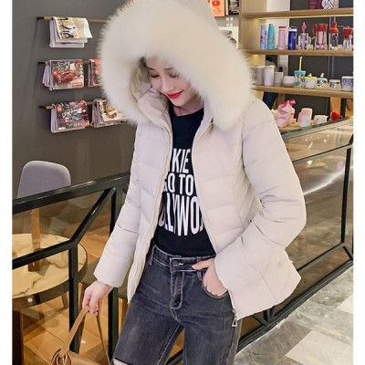 アウター レディース 冬 カジュアル 中綿ダウン ブルゾン  コート ファーフード 大人可愛い ショート丈 ゆったり 防寒 暖か シンプル きれいめ ふわふわ デート
