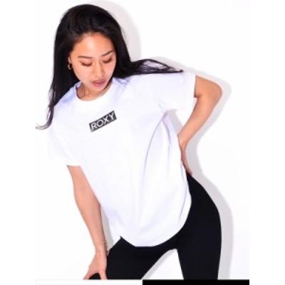 【ゆうメール便送料無料】ROXY ロキシー Tシャツ レディース 半袖 綿 100% BOX ROXY カットソー クルーネック シンプル ボックスロゴ RST