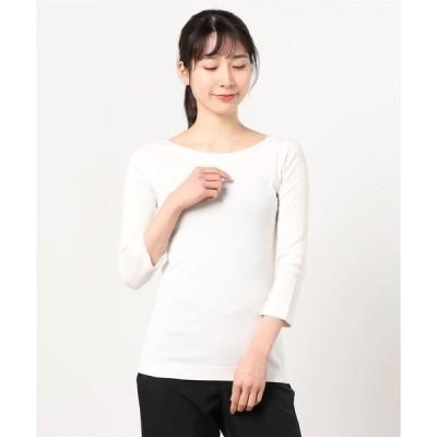 tシャツ Tシャツ Ginger 七分袖ボートネックTシャツ