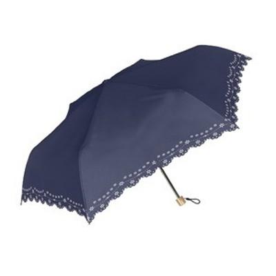 ds-2321150 晴雨兼用レース折りたたみ傘 ネイビー (ds2321150)