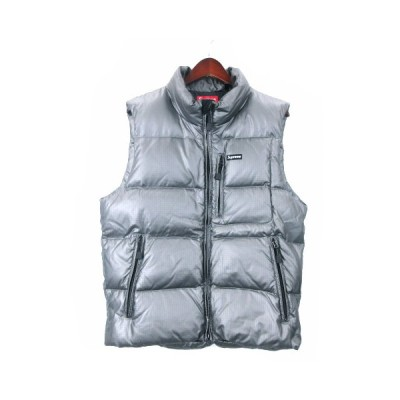 【中古】シュプリーム SUPREME 13AW Silver Ski Vest ダウンベスト ジップアップ M シルバーカラー 210209O IBS94 ☆AA★ メンズ 【ベクトル 古着】