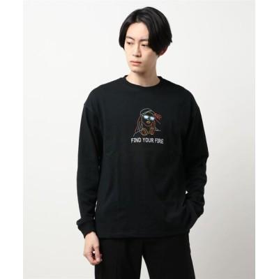 tシャツ Tシャツ 【BACK NUMBER】刺繍ロンT