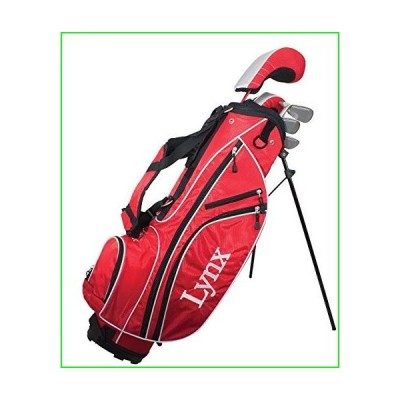 Lynx Golf Junior Boys 13 Piece Complete Set with Bag Graphite (Ages 8-11) Red【並行輸入品】