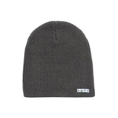 ネフ ヘッドウェア 帽子 ハット ビーニー ニット帽 Neff 帽子 キャップ ハット - Neff ビーニー - Daily - チャコール ワンサイズ