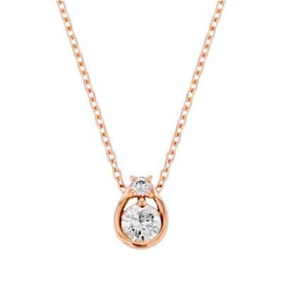 ネックレス レディース 18金 ダイヤモンド K18 ピンクゴールド 18k ESTELLE エステール プレゼント ご褒美 普段使い