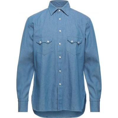 ドッピア アー DOPPIAA メンズ シャツ デニム トップス denim shirt Blue