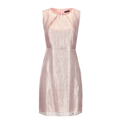 FRACOMINA ミニワンピース&ドレス カッパー S 金属繊維 51% / シルク 49% / ポリエステル ミニワンピース&ドレス