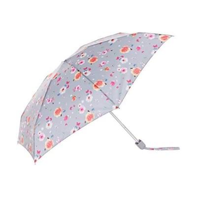 [ムーンバット] FULTON(フルトン) フルトン【ミニ傘】折りたたみ傘 Tiny Summer Sunrise Floral ライトグレー レディース
