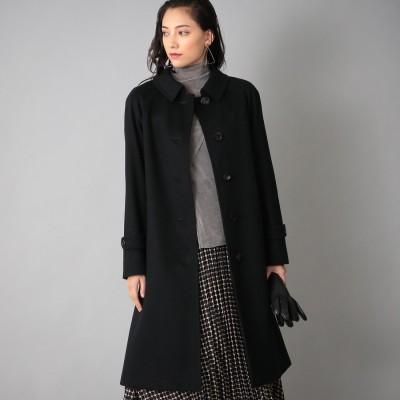 サンヨーコート SANYOCOAT <Rain Wool>カシミヤ混バルマカーンコート (ブラック)