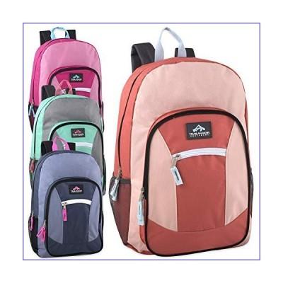 24 Pack of Wholesale Trailmaker 19 Inch Multi Pocket Backpacks in Bulk for Boys, Girls, Men, Women (Girls Assorted)[並行輸入品]
