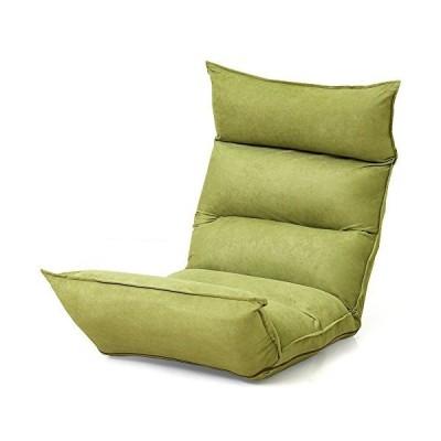 LOWYA ロウヤ 座椅子 長座椅子 高反発 低反発 W触感 リクライニング 42段ギア オリーブ おしゃれ 新生活