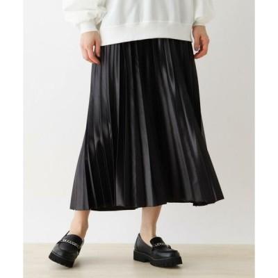 SHOO・LA・RUE / シューラルー 【S-L】レザーフィールプリーツスカート