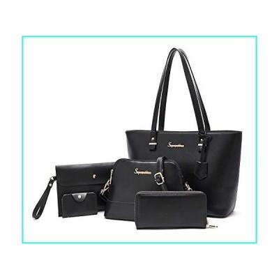 【新品】Soperwillton Handbags for Women Shoulder Bags Tote Satchel Top Handle Bags 5pcs Purse Set(並行輸入品)