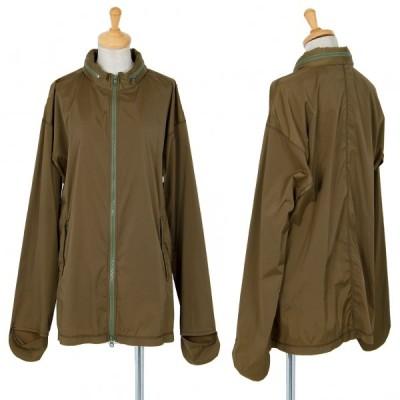 ウインドコートWIND COAT フード収納ストレッチアスレチックジャケット カーキM 【レディース】