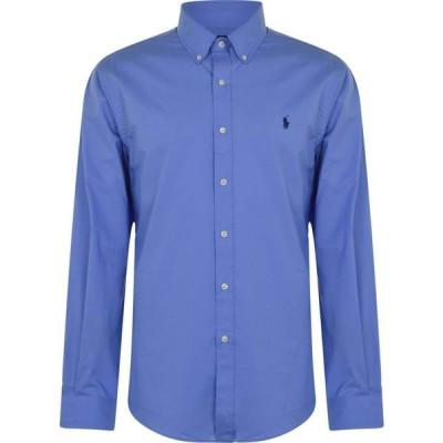 ラルフ ローレン Polo Ralph Lauren メンズ シャツ スリム トップス Poplin Slim Fit Shirt Periwinkle Blue