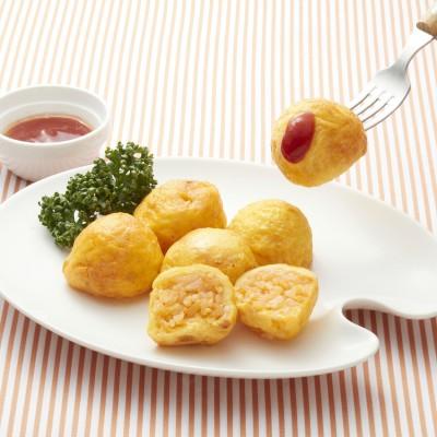 【夕ごはん・お弁当ストック】 一口サイズのふんわりオムライス