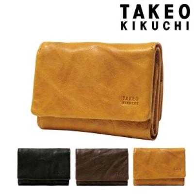 【レビューを書いてポイント+5%】タケオキクチ 三つ折り財布 ミニ財布 オイスター メンズ 720623 TAKEO KIKUCHI | 本革 羊革 レザー