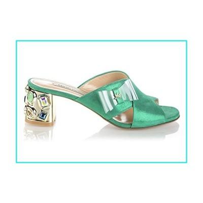 Marino Fabiani 6729 Green Suede Summer Italian Designer Women Sandals【並行輸入品】