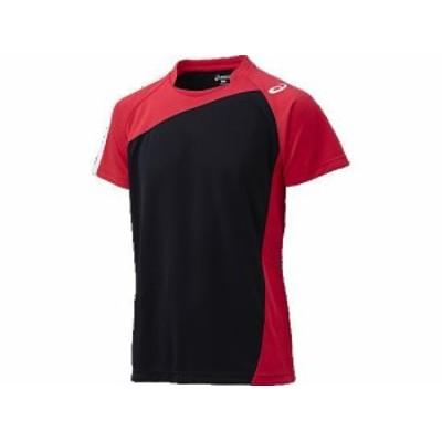 アシックス ゲームシャツHS 9024 ブラック×Vレッド(xw1321-9024)