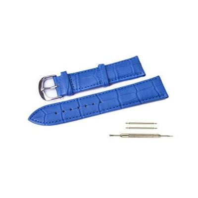 WENTO 本革腕時計バンド アリゲーターグレイン パッド入り 交換用腕時計ストラップ 男女兼用 幅(18mm 20mm 22mm 24mm) 16m