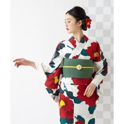 【ふりふ】浴衣「椿オーバジーン」/ 夏・祭り・花火