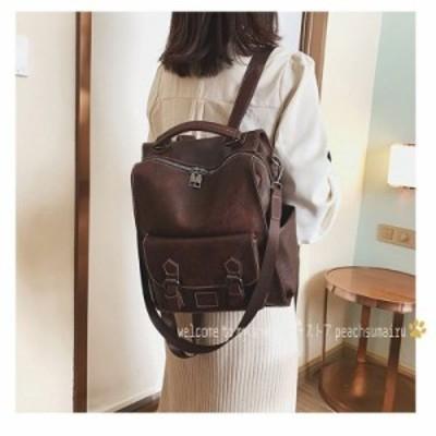 レザーリュック レディース リュックサック デイパック リュックサック バッグ おしゃれ pu カバン 韓国風 30代 40代 ファッション レデ