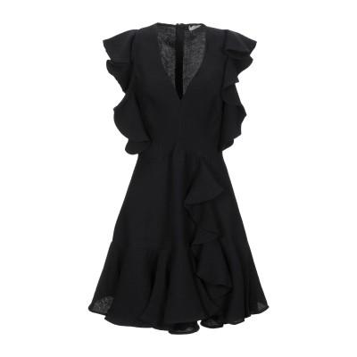 SANDRO ミニワンピース&ドレス ブラック 38 レーヨン 85% / ナイロン 15% ミニワンピース&ドレス