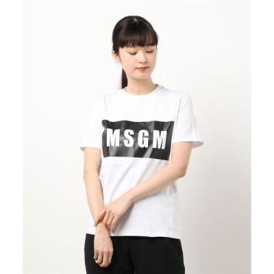 tシャツ Tシャツ MSGM/エムエスジーエム/ボックスロゴTシャツ