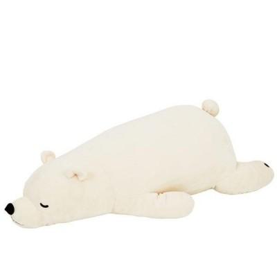 ねむねむプレミアム 抱きまくらL WHITE(シロクマのラッキー) 28977-11