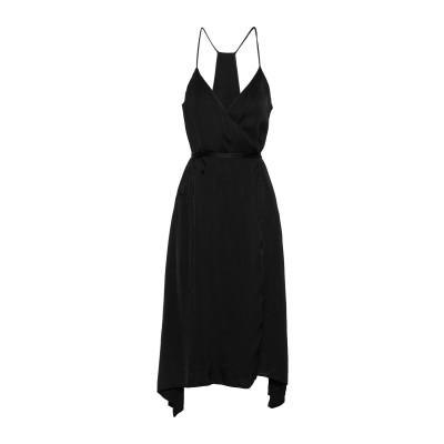 ENZA COSTA ミニワンピース&ドレス ブラック 0 レーヨン 54% / コットン 46% ミニワンピース&ドレス