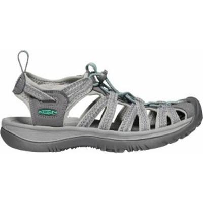 キーン レディース サンダル シューズ KEEN Women's Whisper Sandals Medium Grey/Green