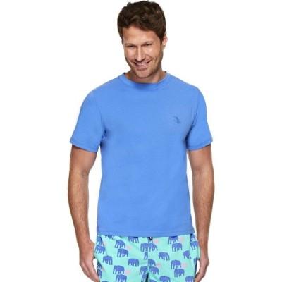 トム&テディー Tom & Teddy メンズ Tシャツ トップス Solid Short Sleeve T-Shirt Atlantic Blue