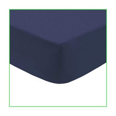 American Baby Company Cotton Percale Fitted Crib Sheet, Navy by American Baby Company【並行輸入品】