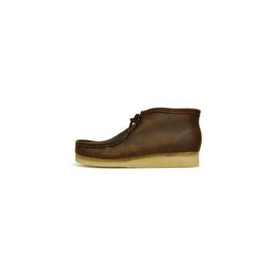 CLARKS (クラークス) ORIGINALS WALLABEE BOOT オリジナルス ワラビー ブーツ 26134196 (BEES WAX LEATHER) メンズ モカシン