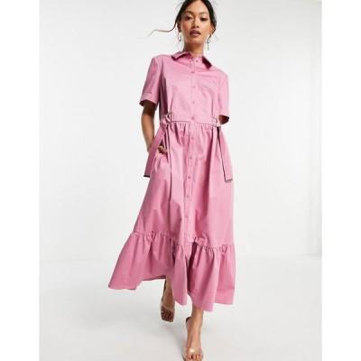 テッドベーカー ミディドレス レディース Ted Baker Luuciiy dress in pink エイソス ASOS ピンク