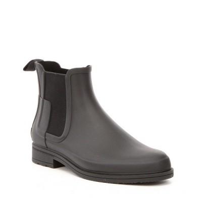 ハンター メンズ ブーツ&レインブーツ シューズ Men's Original Waterproof Refined Chelsea Boots Black