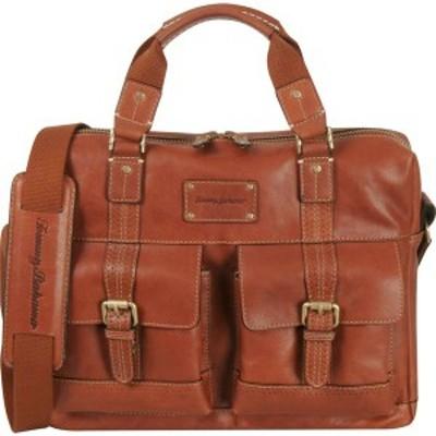 トッミーバハマ メンズ スーツケース バッグ Back 9 Zip Briefcase Cognac