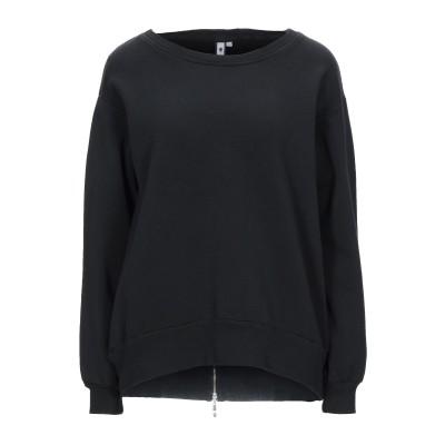EUROPEAN CULTURE スウェットシャツ ブラック M コットン 95% / ポリウレタン 5% スウェットシャツ