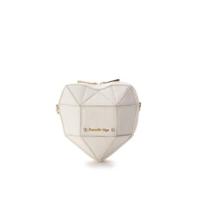 サマンサベガ ホリデーコレクション ラメハートバッグ(小) ホワイト