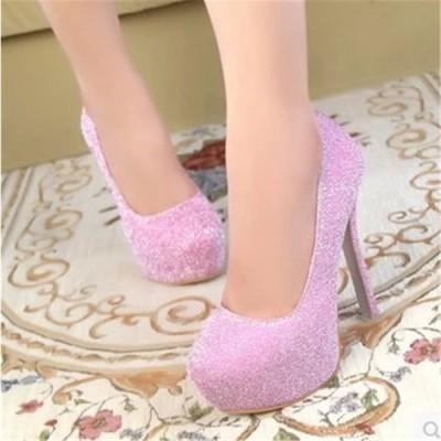 ヒール12cm/サイズ22-24.5cm 結婚式靴 ハイヒール パンプス  痛くない 美脚パンプス シューズ 靴 パーティ 披露宴