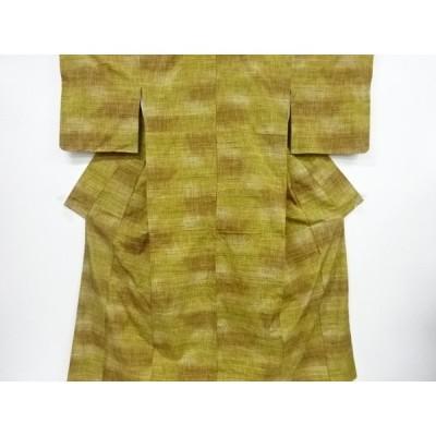 宗sou 幾何学模様織り出し手織り紬着物【リサイクル】【着】