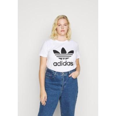 アディダスオリジナルス レディース Tシャツ トップス TREFOIL TEE - Print T-shirt - white/black white/black