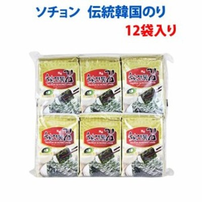 ソチョン 韓国海苔 伝統韓国のり 1袋(12パック入り)味付け海苔 韓国産海苔 無添加 個包装タイプ 送料無料