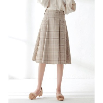 フレアスカート フェミニン レトロ ミディアム丈 ハイウエスト Aライン デート 大きいサイズ レディース スカート