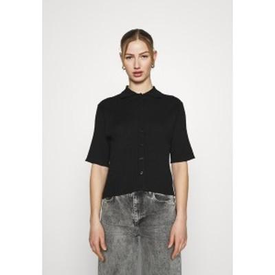 モンキ レディース シャツ トップス CAT - Button-down blouse - black black