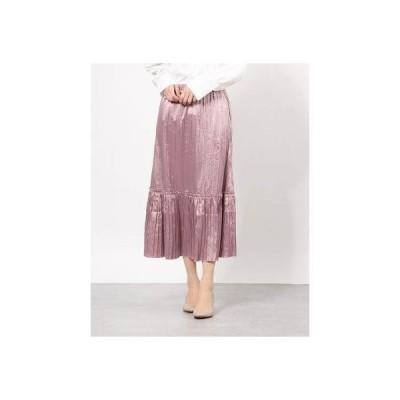 イーハイフンワールドギャラリーアウトレット E hyphen world gallery outlet しわプリーツスカート (Lavender)