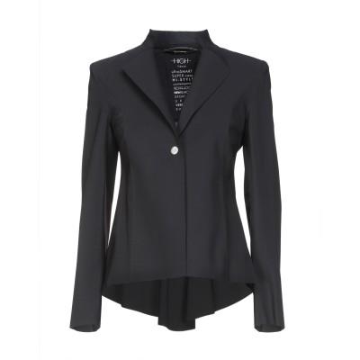 HIGH テーラードジャケット ブラック 40 ナイロン 73% / ポリウレタン 27% テーラードジャケット