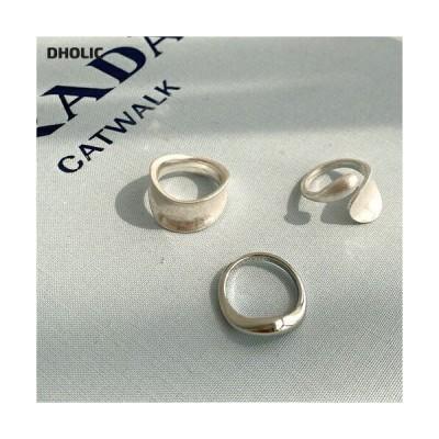 レディース アクセサリー 指輪 リング ボールド ウェーブ セット シルバー ゴールド シンプル 韓国 ファッション