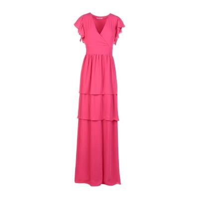 BIANCOGHIACCIO ロングワンピース&ドレス フューシャ M ポリエステル 100% ロングワンピース&ドレス